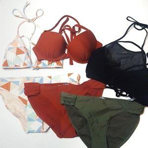Aerie NWT Large Mix/Match Bikini Bundle